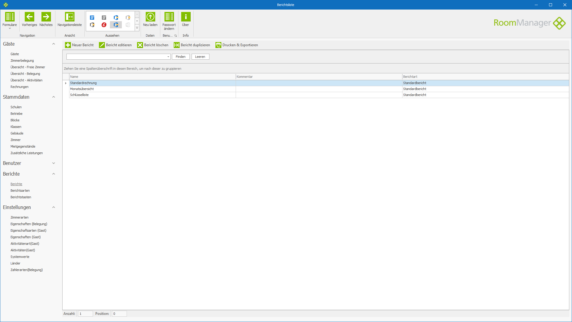 Wohnheimverwaltung -  Hospitality Management - RoomManager - Software Screenshot #2